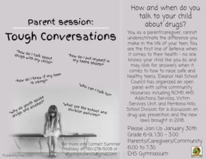 Why We Need Open Conversations About Drugs Community >> Drug Awareness Panel Eleanor Hall School